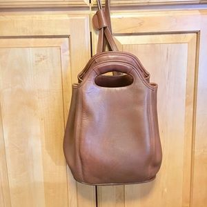 Coach Backpack - Tan Leather